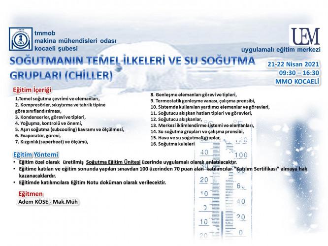 SOĞUTMANIN TEMEL İLKELERİ VE SU SOĞUTMA GRUPLARI (CHİLLER)