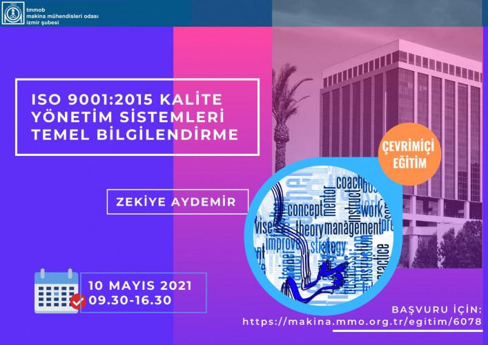 ISO 9001:2015 Kalite Yönetim Sistemleri Temel Bilgilendirme Eğitimi - Çevrimiçi Eğitim