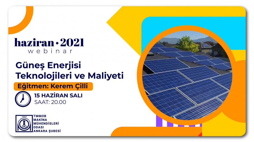 Güneş Enerjisi Teknolojileri ve Maliyeti