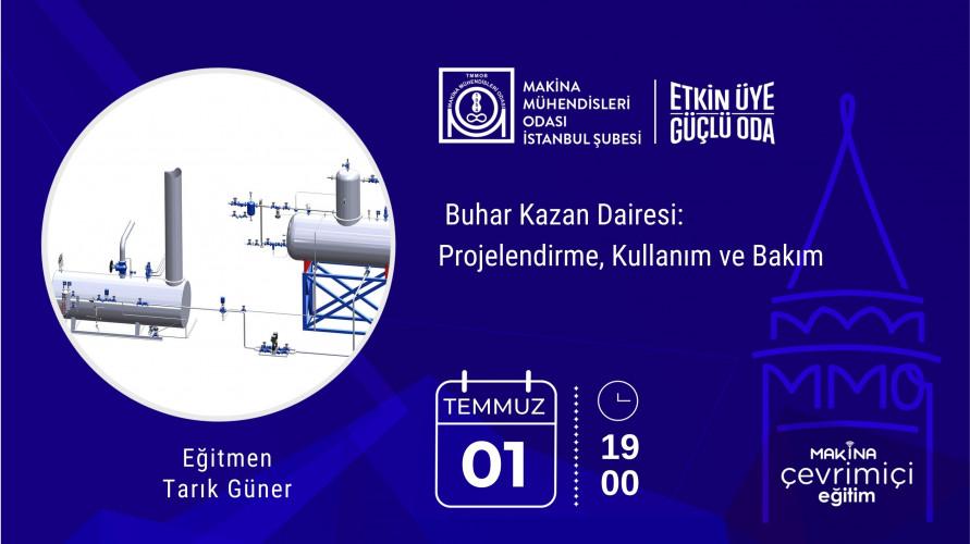 Buhar Kazan Dairesi: Projelendirme, Kullanım ve Bakım