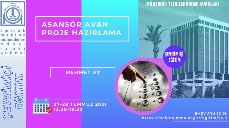 Asansör Avan Proje Hazırlama Mühendis Yetkilendirme Kursu (Çevrimiçi)