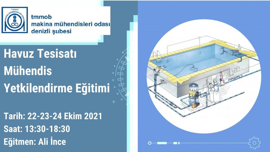 Havuz Tesisatı Mühendis Yetkilendirme Eğitimi (Çevrimiçi)