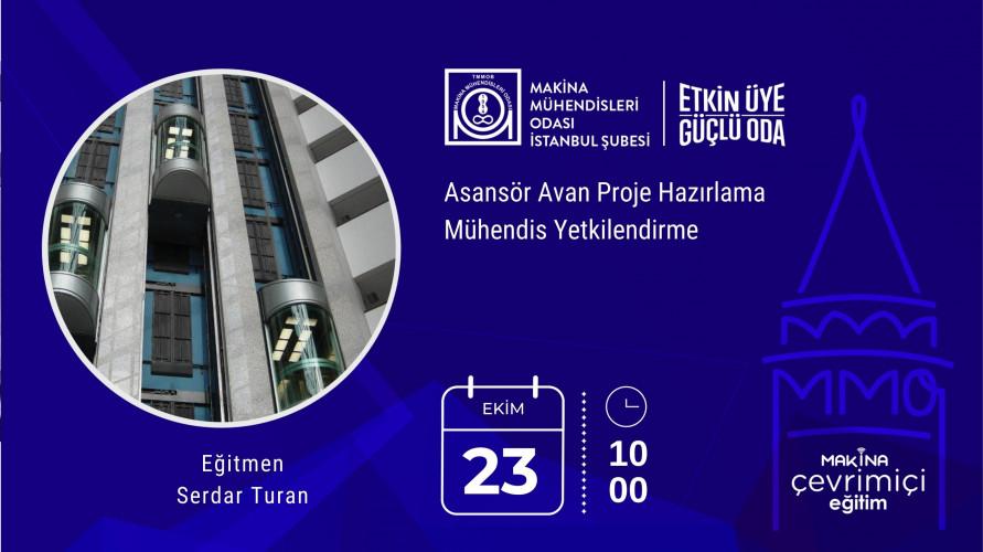 Asansör Avan Proje Hazırlama Mühendis Yetkilendirme(Çevrimiçi Eğitim)
