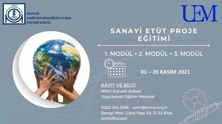 Sanayi Etüt Proje Eğitimi (Ücretli Eğitim)
