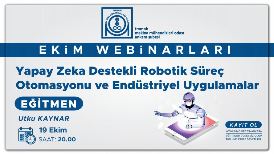 Yapay Zeka Destekli Robotik Süreç Otomasyonu Ve Endüstriyel Uygulamalar