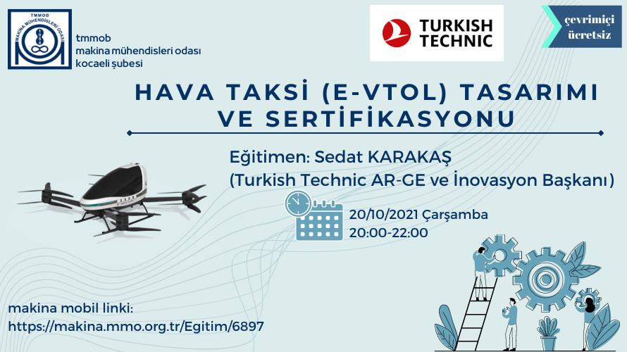 Hava Taksi (E-Vtol) Tasarimi Ve Sertifikasyonu